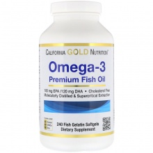 Антиоксидант California Gold Nutrition Omega-3  240 капс